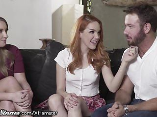 Wife turned on by watching spouse with redhead armana