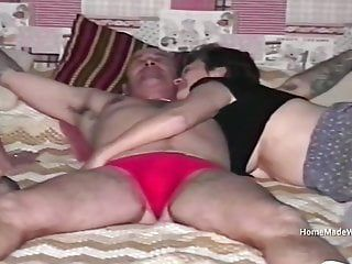 Filth throat council estate aged housewife 3some